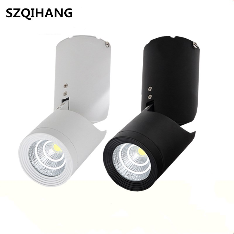 Surface Monté LED Spot 360 Rotation LED Downlights 15 W Dimmable COB Downlights AC85-265V LED Plafonniers