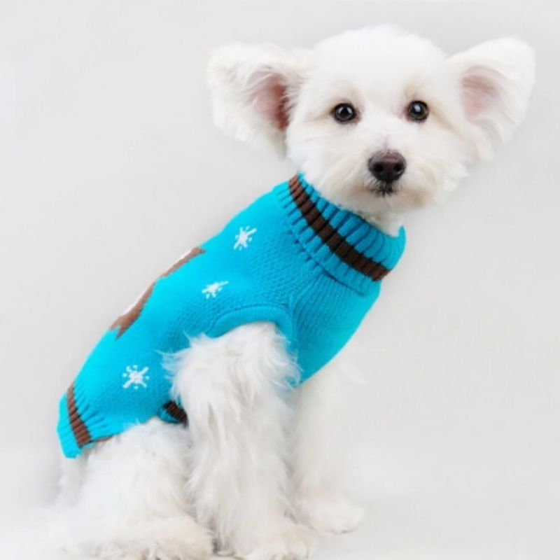 Chic Dog Crochet Dog Sweater Owl Design Knit Sweater Pet Dog Puppy Small Dogs Winter Warm Clothes
