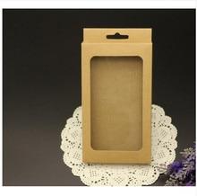 Pacote De Papel kraft Caixa de Papel de Embalagem de varejo Para Telefone Celular Caso Acessórios