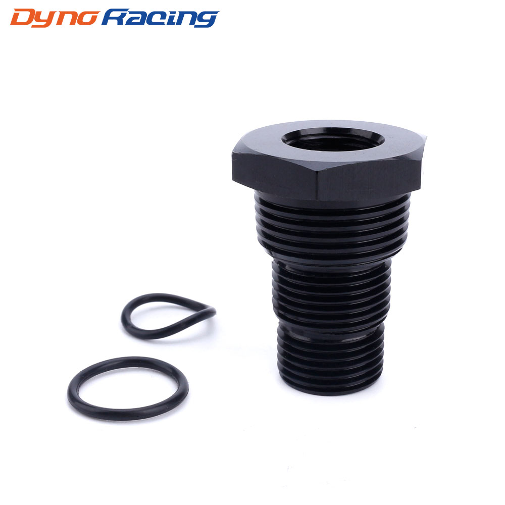 Universal Black Car Automotive Threaded Oil Filter Adapter 5/8-24 To 3/4-16 13/16-16 3/4NPT Aluminum Car Nut YC101282