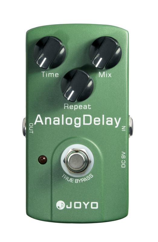 Joyo JF-33 Analog Delay Electric Guitar Effect Pedal Max Time Repeat True Bypass aroma adl 1 true bypass delay electric guitar effect pedal high quality aluminum alloy guitar accessories delay range 50 400ms