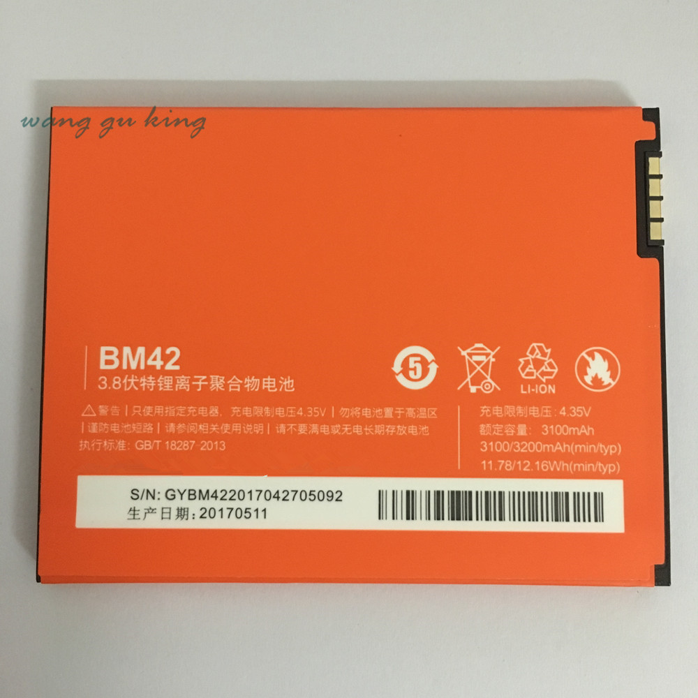 100% Original Backup new <font><b>BM42</b></font> <font><b>Battery</b></font> 3100 mAh for Xiaomi <font><b>Battery</b></font> In stock With Tracking number