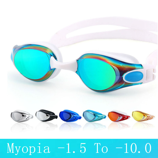 314c906c9 Electroplate gafas de natación miopía adulto profesional anti niebla  natacion hombres mujeres natación gafas arena natación