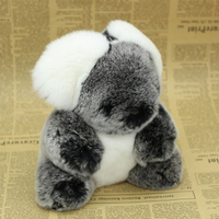 Soft rex rabbit small raccoon fur authentic pony ball rabbit fur key chain pendant key chain gift charm lady accessories