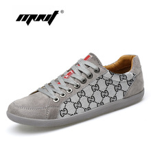 Купить с кэшбэком High Quality Genuine Leather Men Shoes Fashion Comfortable Men's Casual Shoes Lace Up Flats Outdoor Walking Shoes