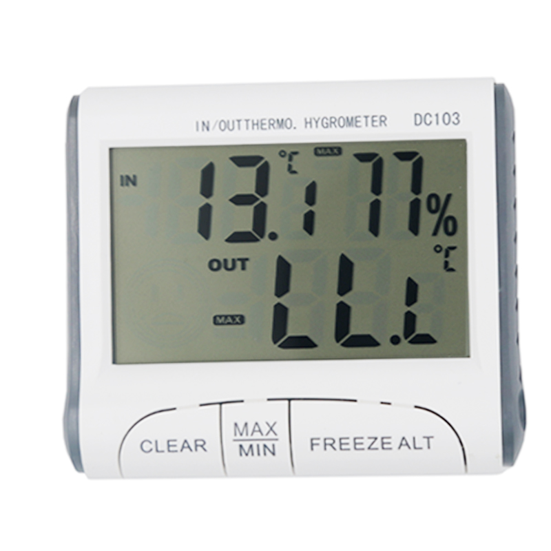 MAX/MIN values Temperature Humidity Digital Thermometer Hygrometer Wired External Sensor Tester weather station 15%off