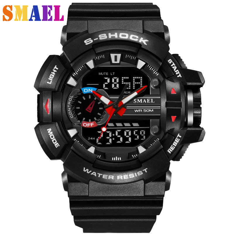 Digital Sport Watch Men 2018 Clock Male LED Quartz Wrist Watches Men's Brand Luxury Waterproof Digital-watch Relogio Masculino