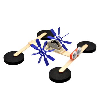Pull line power paddle boat DIY assembling material science experiment model toys theo jansen mini strandbeest model wind power beast diy educational toys handmade science experiment toys child birthday gift