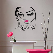 YOYOYU Cosmetic Cosmetology Vinyl Wall Sticker Beauty Girl Makeup Removeable Decal Salon Decoration Poster ZX312