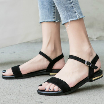 Abierta Suave Sandalias De Zapatos Rosa Suela Escolares Informales Planas Básicas Negras Tamaño Mujer Punta E92IWDH