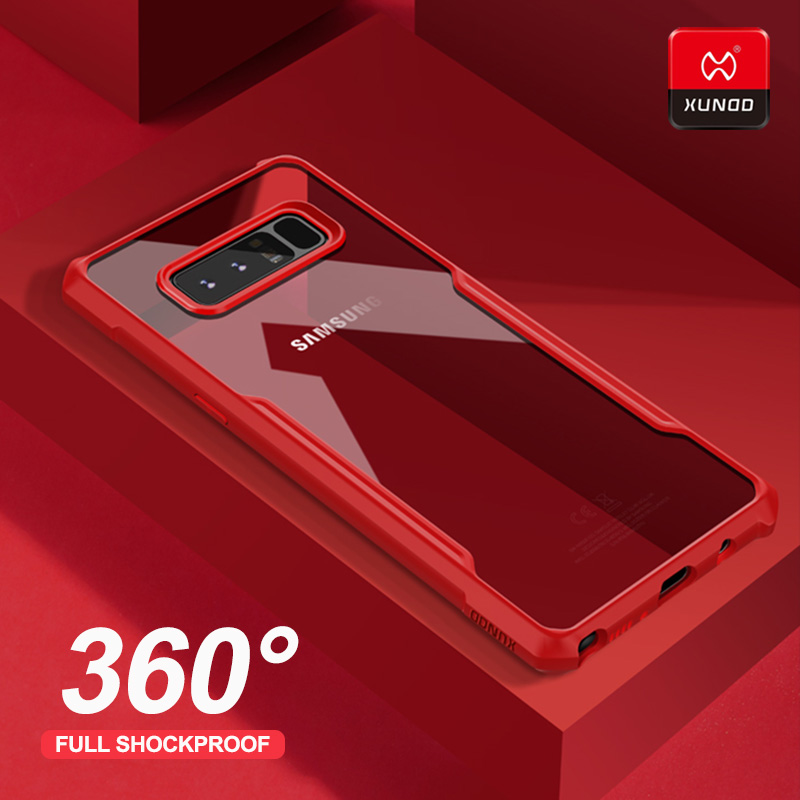 Original Luxury 360 Shockproof Soft Shell Case For Samsung Galaxy Note 8 9 10 Plus Phone Silicone Airbags Protective Back Cases in Fitted Cases from Cellphones Telecommunications