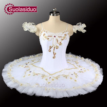 White Swan Lake Ballet Tutu Costumes Professional Girls Classical Stage Dancewear SD0029