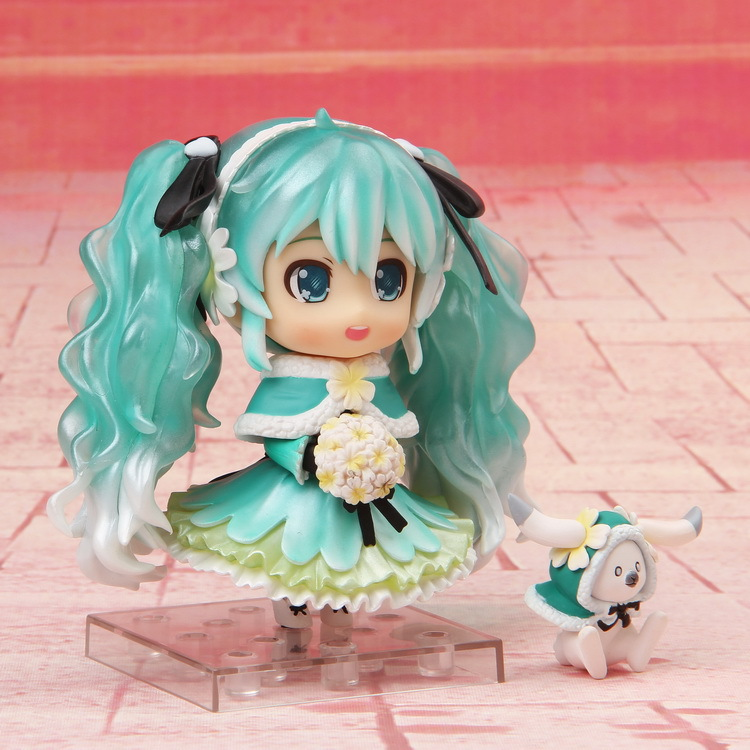 Nendoroid Hatsune Miku Snow Miku 2015 Snow in Summer ver. 047 PVC Action Figure Collectible Model Toy Doll 10cm hatsune miku nendoroid black rock shooter klinge miku pvc action figure anim q version of the 3 educational toys