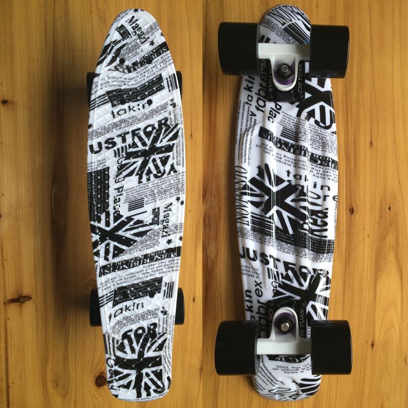 Drapeau britannique Penny Board imprimé Mini Cruiser planche à roulettes en plastique 22 X 6 rétro Longboard Skate longue planche aucun assemblage requis