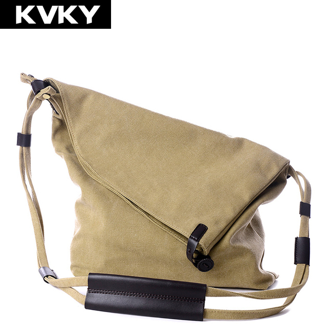 KVKY 2017 Fashion Women Handbag Vintage Canvas Shoulder Bags Messenger  Crossbody Bags Satchel Solid Color Casual