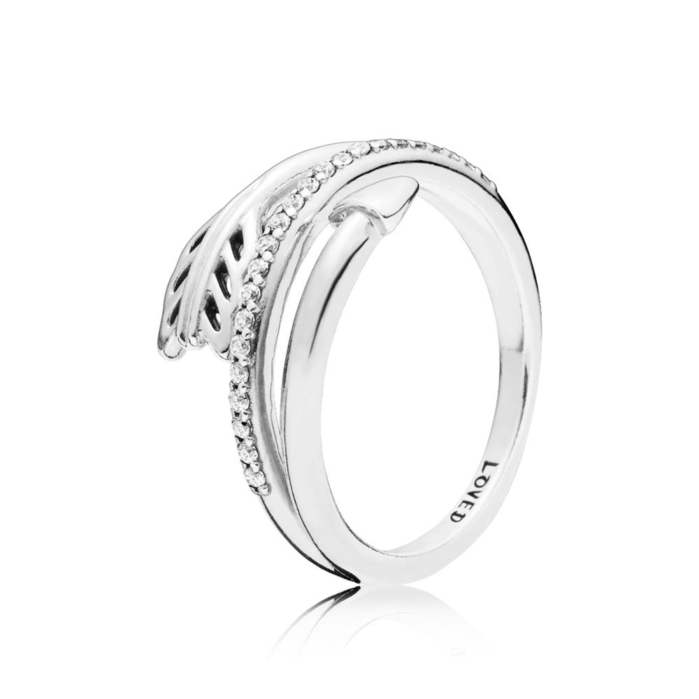 CHAMSS 2019 Years Autumn 100% 925  Sterling Silver New Sparkling Arrow Ring Elegant Girls Birthday Gifts Jewelry Free Shipping(China)