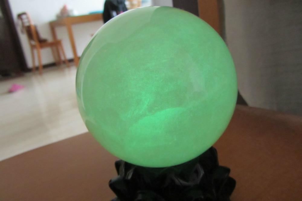 100mm brillo verde calcita brillo en la esfera de la bola de piedra oscura sanación de China-in Piedras from Hogar y Mascotas    1