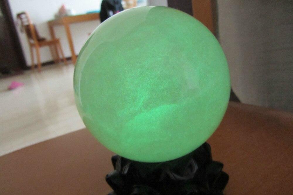 100mm brillo verde calcita resplandor en la esfera de la bola de piedra oscura sanación de China BAMOER, moda nueva, Plata de Ley 925 auténtica, Mystery Ocean Charms Beads fit, pulseras de encanto para mujeres, joyería de piedra DIY SCC246