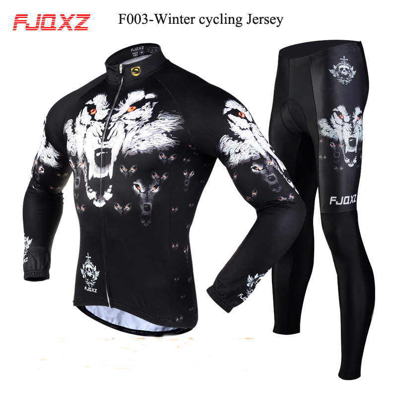 Novelty winter long sleeve Mountain bike Polyester cycling jersey for men