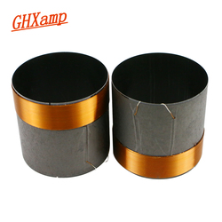 Ghxamp 50.5mm baixo bobina de voz woofer 8ohm peças reparo preto alumínio redondo fio cobre 2 peças