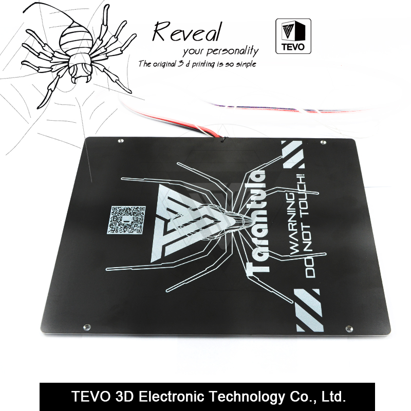 TEVO Tarantula heat bed Large build area 200 280 3 5mm Black Aluminium heat bed 3D