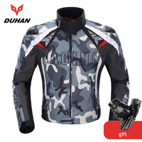 DUHAN Camouflage Men's Motorcycle Jacket Oxford Motocross Off Road Racing Jacket With 5 Protectors Moto Guards Moto Jacket