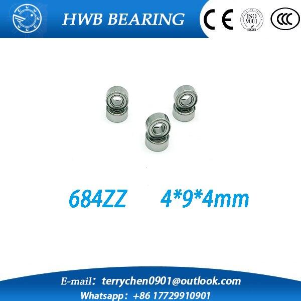 Free shipping 684ZZ Bearing  50PCS 4x9x4mm Miniature 684 Z Ball Bearings 618/4ZZ metal shielded 4mm shaft ball bearing  free shipping 10 pcs 684zz 684z 684 bearings 4x9x4 mm miniature ball bearings l 940zz abec5