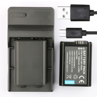 LANFULANG Battery (2 Pack) and Charger for Sony NP FW50 NP FW50 (Compatible with a5000, a5100, a6000, NEX 3 NEX 5 NEX 6 )