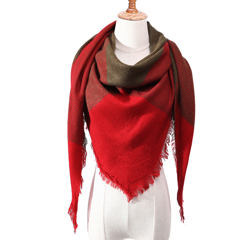 Бандана палантин платок на шею шарф зимний Дизайнер трикотажные весна-зима женщины шарф плед теплые кашемировые шарфы платки люксовый бренд шеи бандана пашмина леди обернуть - Цвет: c1