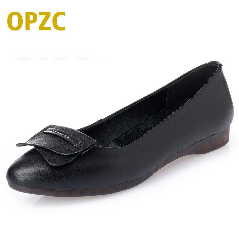 De Grande Côté Mode Le 2019 35 Femmes Black Taille Confort Chaussures 42 Printemps Bouche Avec Cuir Pente Pois Véritable Boucle Peu En Profonde beige brown w7KqXvT7