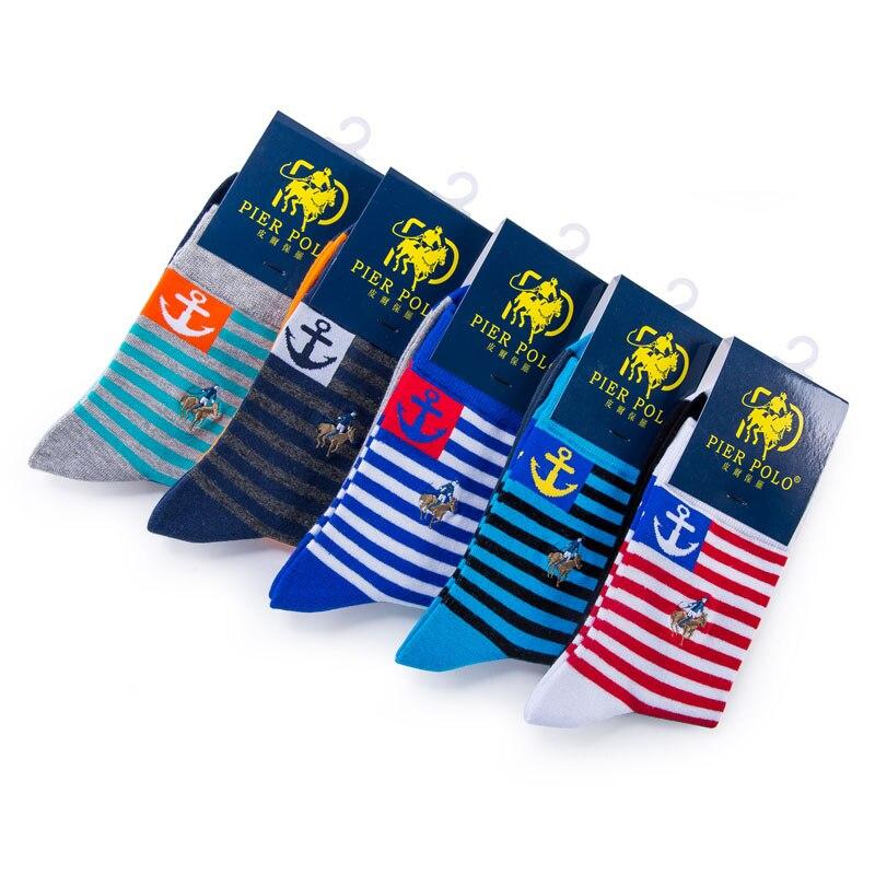 High quality PIERPOLO Socks Men Cotton Socks Classic Business Brand Mens Socks Dress Mens Socks 5 Pair