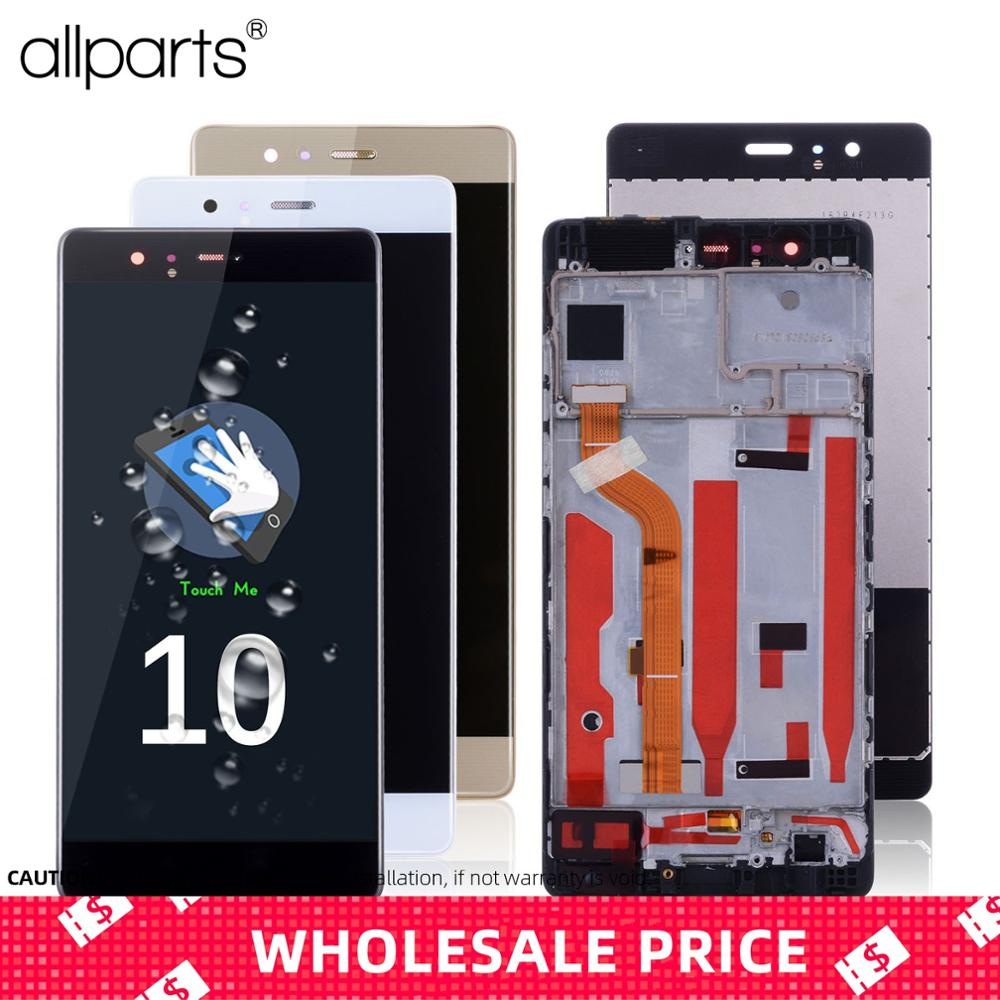 Original LCD For Huawei P9 Display Touch Screen With Frame Replacment For Huawei P9 LCD Display Digitizer EVA-L09 L19 L29