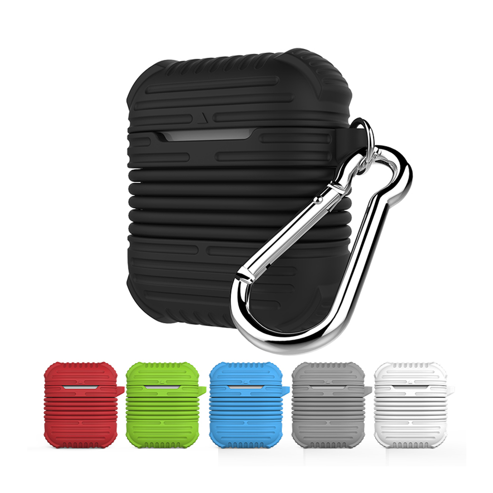 Airpods Case Extra thick Silicone Case for Airpods Anti-Lost Anti-drop Anti-dust For Apple Airpods