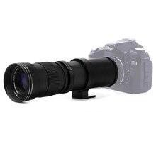 420-800 мм F/8,3-16 Руководство Супер телефото зум-объектив + T2 адаптер для Nikon D3200 d3300 D5200 D5500 D7000 D7200 D800 D90 DSLR