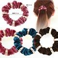 NEW Velvet Elastic Hair Scrunchie Scrunchy Hairband Head Band Ponytail Holder female headwear hair accessories