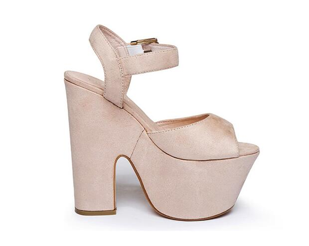 5677ccace70 Cute women high heel 15 cm sandals peep toe black nude for selection ankle  strap shoes ladies thick heel platform sandals heels