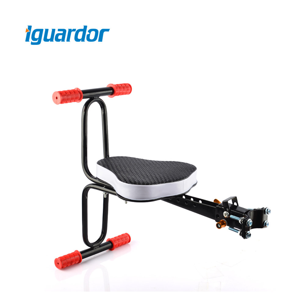 Iguardor Saddle For Child Quick Dismounting Bicycle Seat Bicycle Preposed Safety Seat with Armrest and Pedal Cycling Accessories