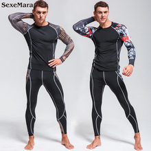 Mens Compression Sportswear GYM Tights Sports Suits training Clothes workout jogging clothing Tracksuit Rashgard