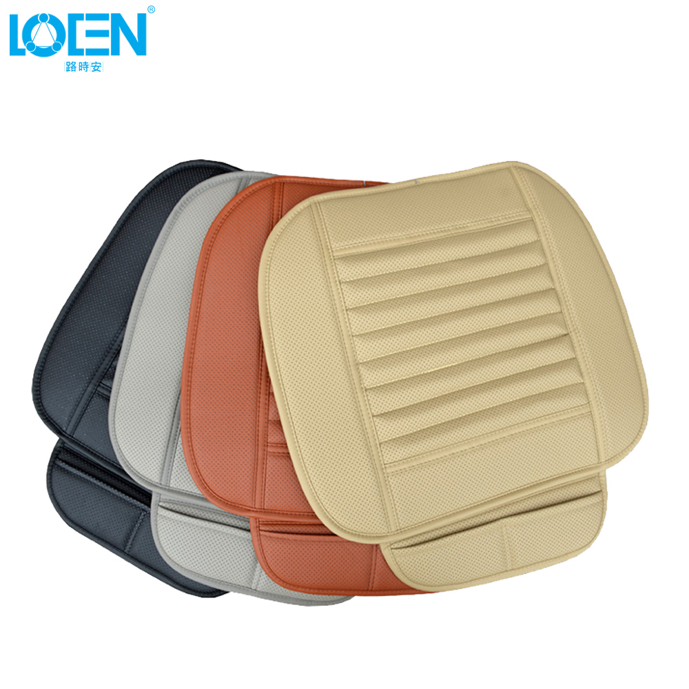 1Set Luxury Leather Bamboo Car Seat Covers Cushion ProtectorBreathable Seat Mats For Kia Volvo Volkswagen Suzuki Car Accessories universal pu leather car seat covers for toyota corolla camry rav4 auris prius yalis avensis suv auto accessories car sticks