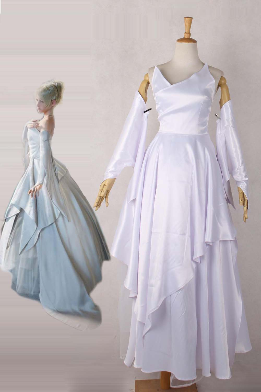Final Fantasy XV FF15 Luna Wedding Dress Cosplay Costume