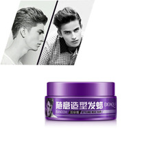 2017 1pclong professional lasting hair wax men styling tools casual pomade fluffy clay modeling stereotypes 88