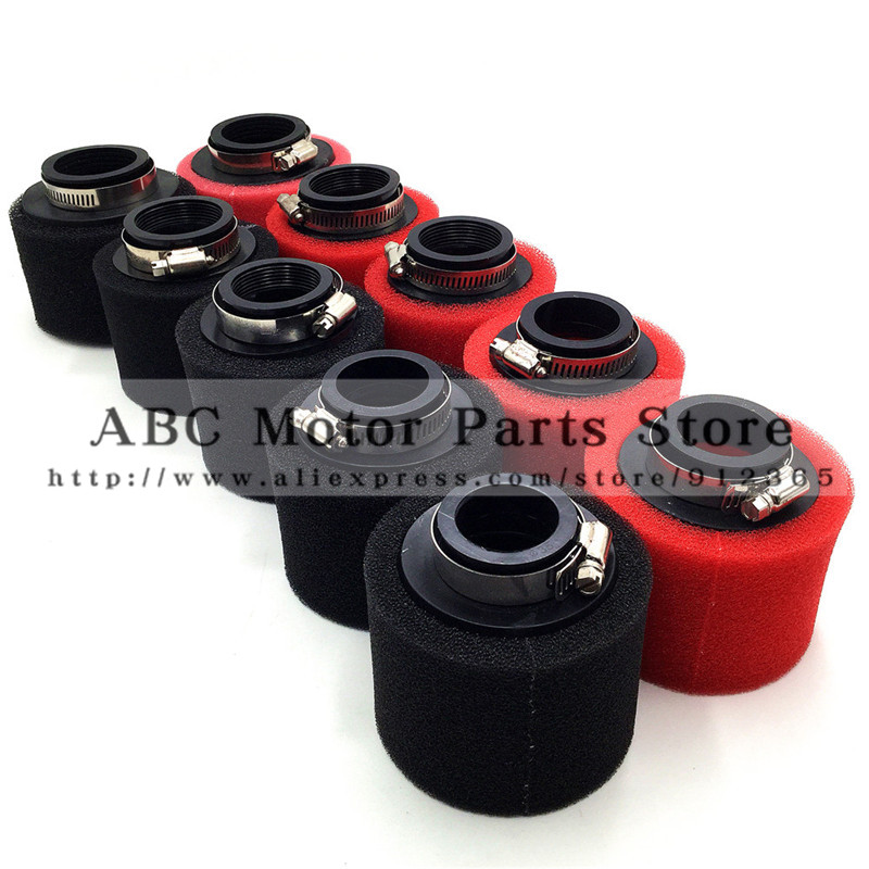Air Filter For Racing Motorcycle Scooter Bike Dirt Pit Spong soft Filter ATV For GY6 50cc 35 42 45 48 Red Black