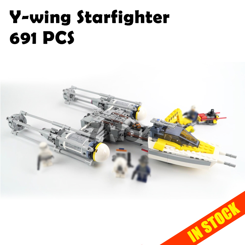 05065 Star Series Wars Y-wing Starfighter Model Building toys hobbies Blocks Bricks for children Gift compatible with lego 75172 2015 high quality spaceship building blocks compatible with lego star war ship fighter scale model bricks toys christmas gift
