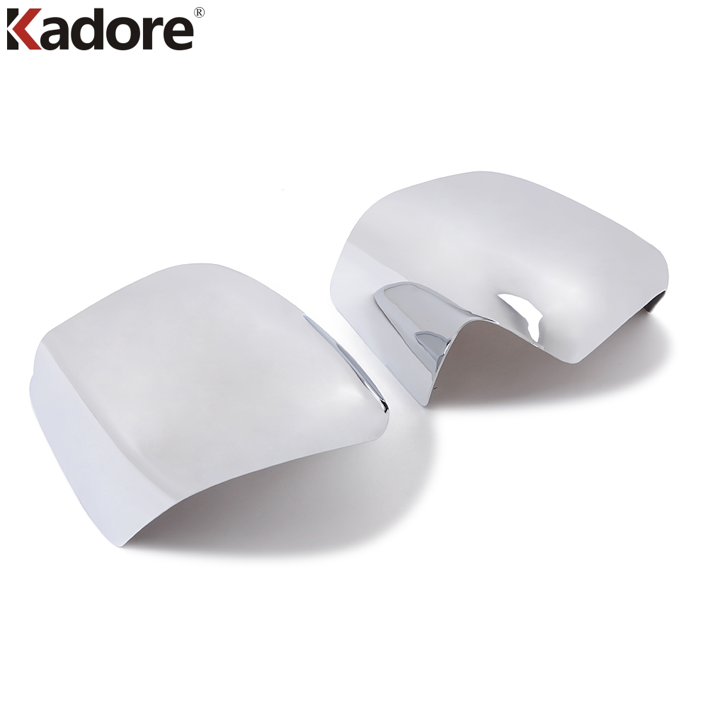 For Toyota Land cruiser J200 2008 2009 2010 2011 Shiny Plating Back Mirror Decoration Rearview Mirror Cover Trim 2PCS/SET