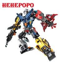 TODA LA VENTA 7 Artículos/set Cambiará de Forma Robot Mini Serie Montado Ladrillos 7 En 1 Robot Deformado Combinaciones de Construcción bloques de Juguete