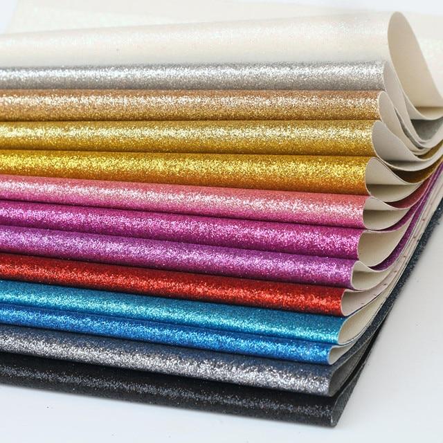 1 PC 21*29 CM A4 Glitter Couro Sintético PU Tecido de Couro Falso Couro Artificial Diy Fontes Do Ofício de Artesanato acessórios