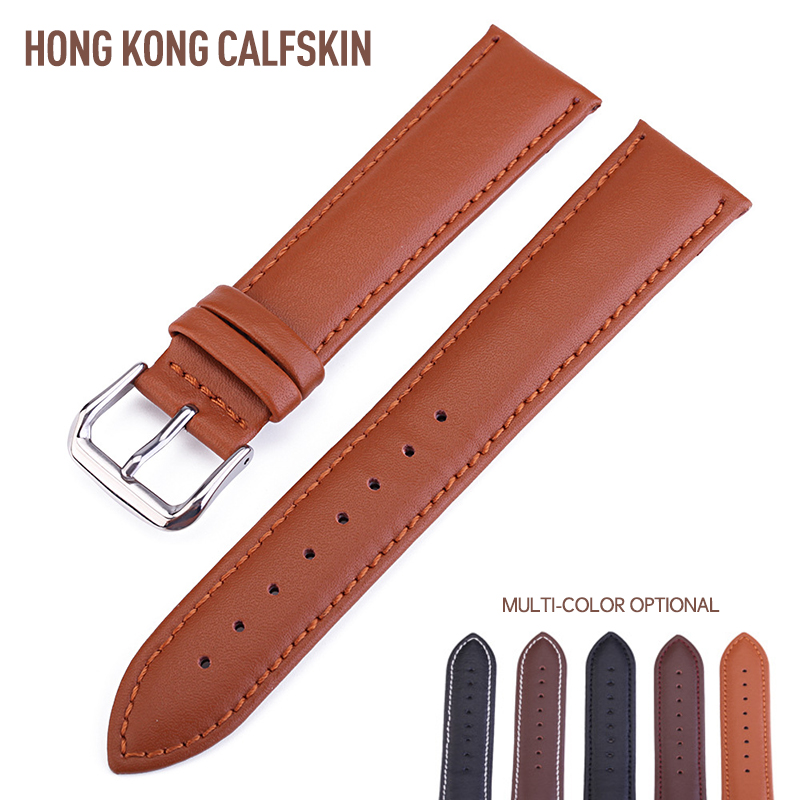 New High Quality Vintage Cow Leather Watchbands Buckle Genuine Leather Strap 14 16 18 19 20 22 24 mm For Wristwatch Watch Band