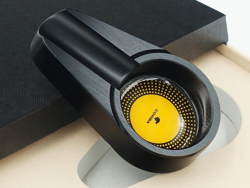 COHIBA черная сигарная Зажигалка пепельница желтая гидратирующая трубка подарочный набор для путешествий - 5