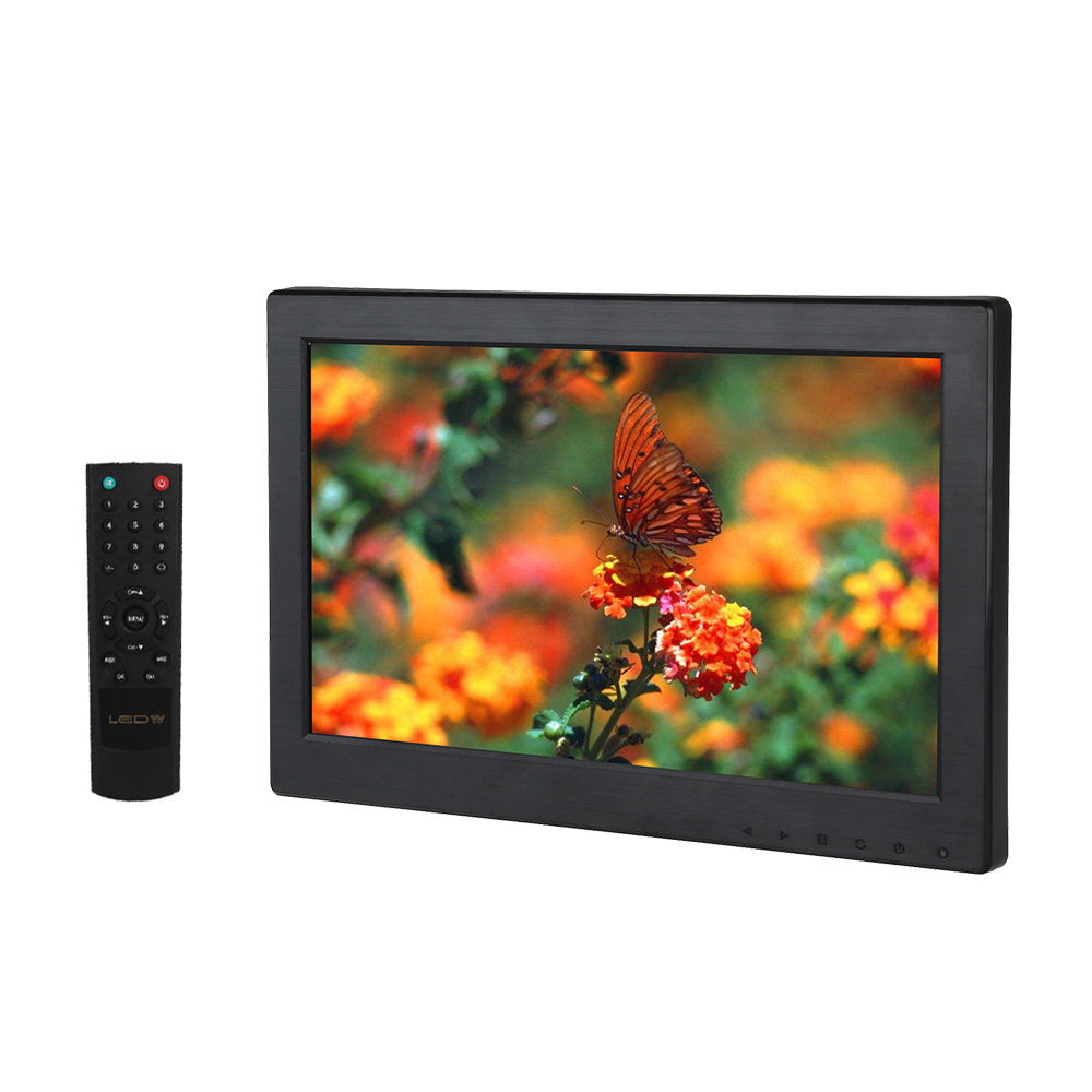 Eyoyo T1116 12 inch TFT LCD 1366*768 VGA/TV/HDMl/AV TFT LCD Color Monitor For CCTV PC Security System escam t10 10 inch tft lcd remote color video monitor screen with vga hdmi av bnc usb for pc cctv home security system camera