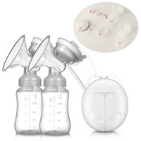 Real Single/Double Electric Breast Pump With Milk Bottle Infant free Powerful Breast Pumps breast milk collector P.P. nurse